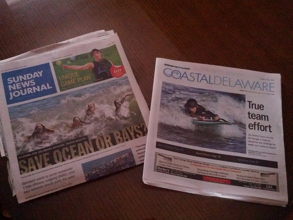 Did you see this Sundays Delaware News Journal?!?! FRONT PAGE