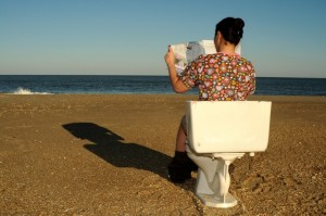 toilet on the beach