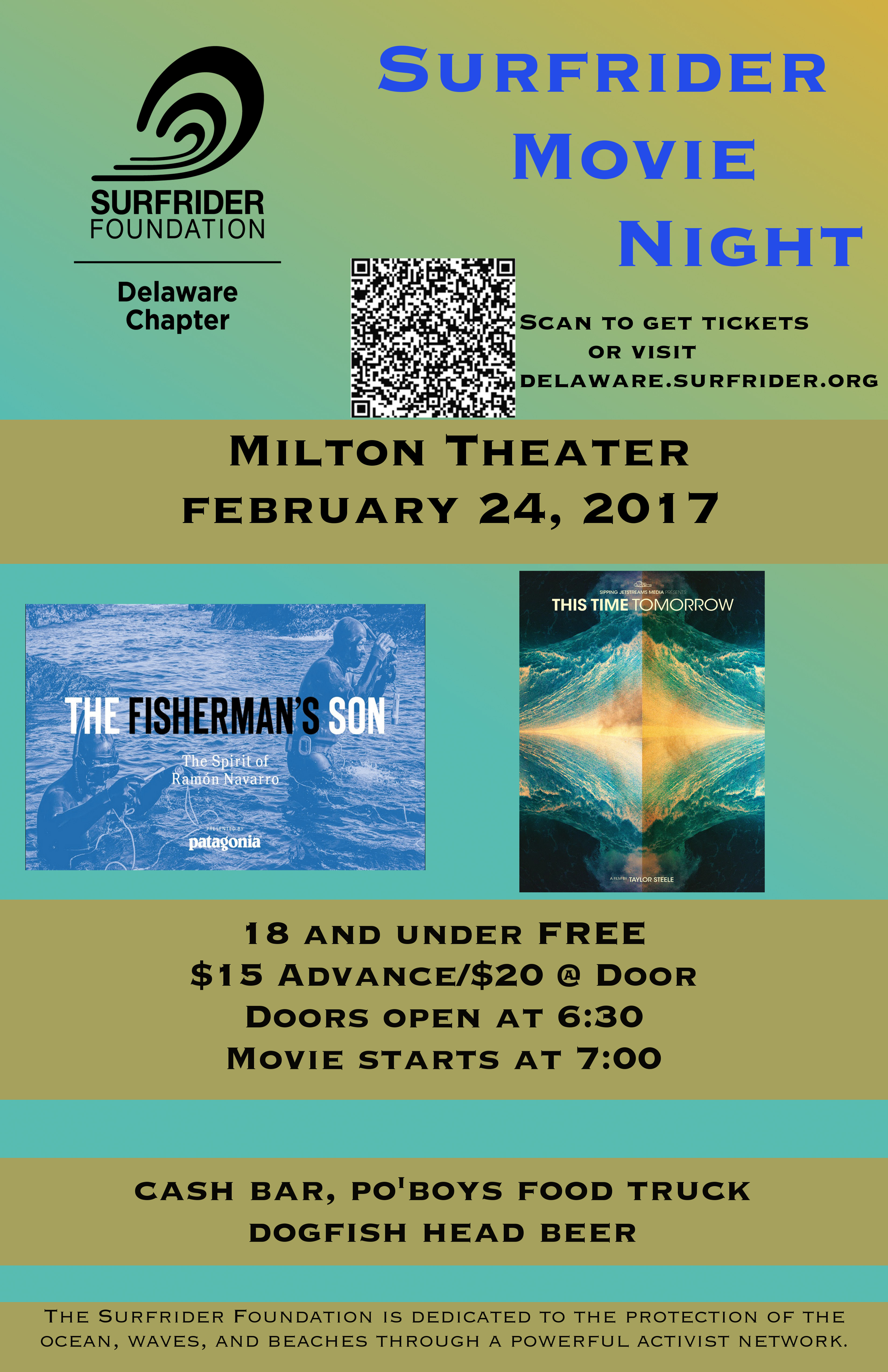 Delaware Surfrider Movie Night – Feb. 24 Milton Theatre